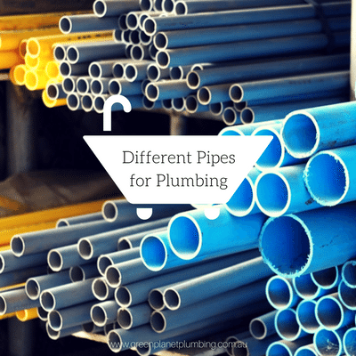 Different Pipes for Plumbing