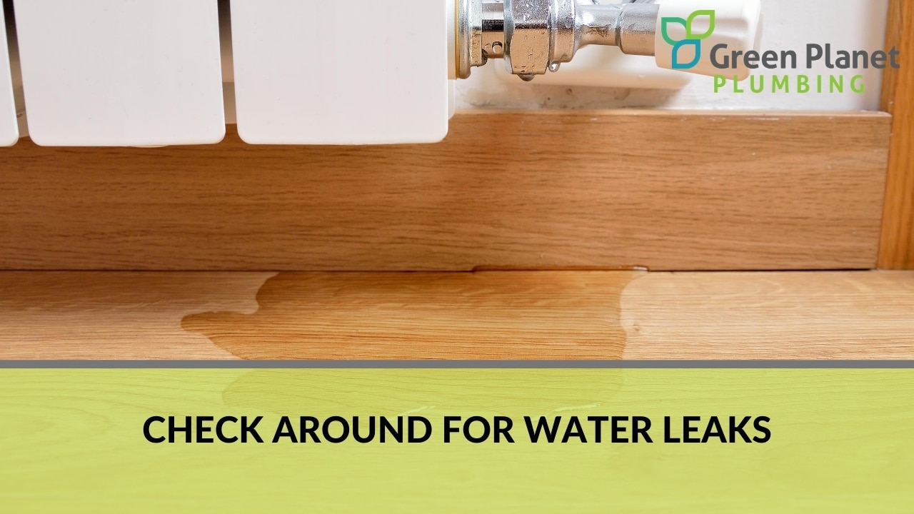 Check Around for Water Leaks