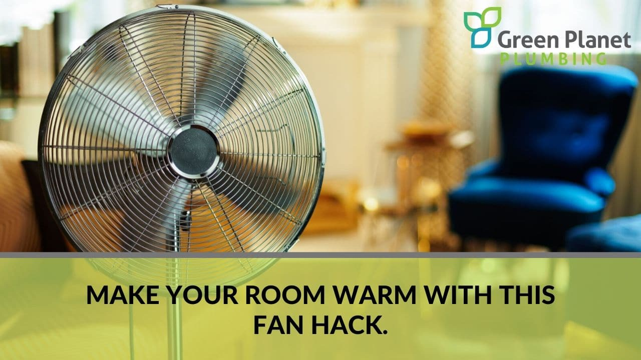 Make your room warm with this fan hack.